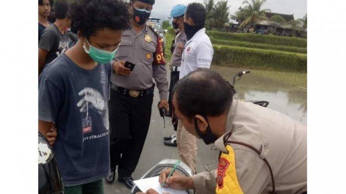 Polsek Sukawati Tertibkan Sekelompok Pemuda yang Melakukan Aksi Trek-trekan di Gianyar Bali