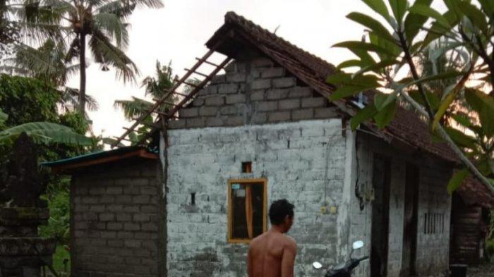 Angin Puting Beliung Terjadi di Desa Warnasari Jembrana, 10 Rumah Rusak