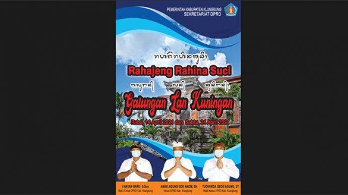 Sekretariat DPRD Kabupaten Klungkung mengucapkan Selamat Hari Galungan dan Kuningan