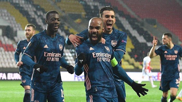 Update Hasil Liga Eropa Arsenal 'Ngamuk' Hajar Slavia Praha Empat Gol, Arteta Jumpa Emery