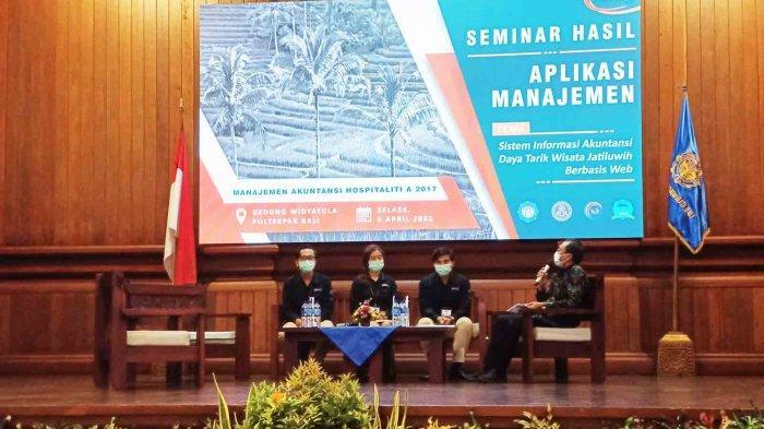 Mahasiswa Prodi MAH Poltekpar Bali Gelar Seminar Hasil Aplikasi Manajemen
