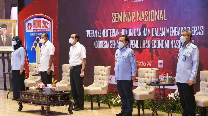 Hari Dharma Karya Dhika 2021 Kemenkumham Gelar Seminar Nasional Akselerasi Indonesia Sehat dan PEN