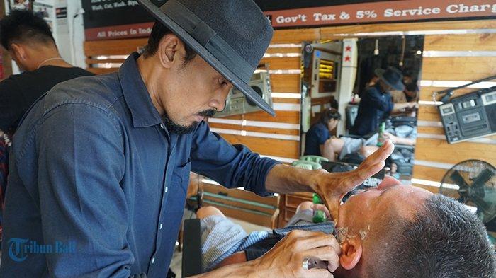 Kisah Tukang Cukur di Denpasar Bergaji Rp 9 Juta,Bisa Beli Tanah dari Hasil Nyukur Rambut di Bali