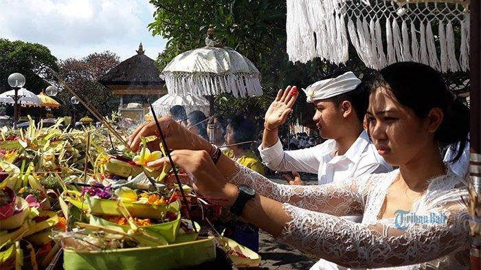 Dibatasi 50 Orang, Berikut Aturan Persembahyangan Kuningan di Pura Jagatnatha Denpasar