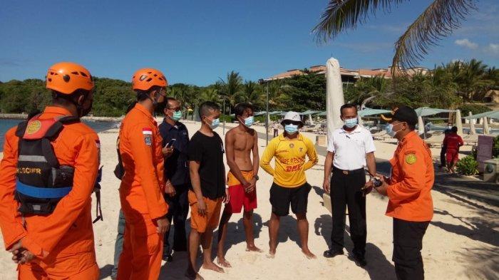 Terjebak Air Laut Pasang di Pantai Geger Badung Bali, Elvin Berhasil Diselamatkan Basarnas Bali