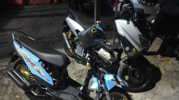 Puluhan Kendaraan Knalpot Brong di Tabanan Disita Polisi, Lakukan Sosialisasi hingga Datangi Bengkel