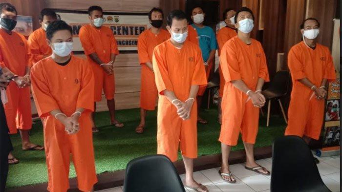 Polres Karangasem Ringkus Sepuluh Penyalahguna Narkotika, Satu Diantaranya Residivis