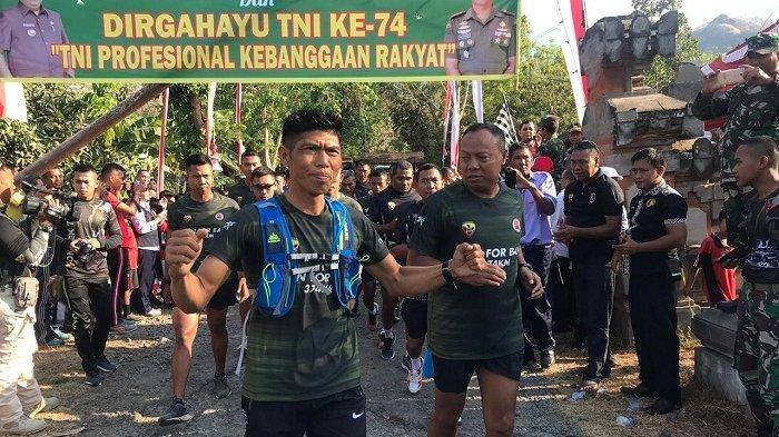 Gelaran Pelepasan Run For Bali di Etape Kedua, Pelari Serka Dewa ArsanaSelesaikanJarak 374 Km