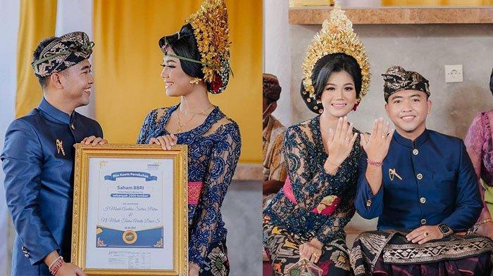 Pertama di Bali, Kisah Pasangan Made Andika & Tania Gunakan 20 Lot Saham untuk Seserahan Menikah