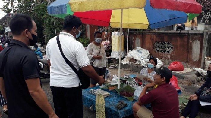 Guna Menekan Angka Penyebaran Covid-19, Diskoperindag Jembrana Gelar Sidak Prokes di Pasar Pagi