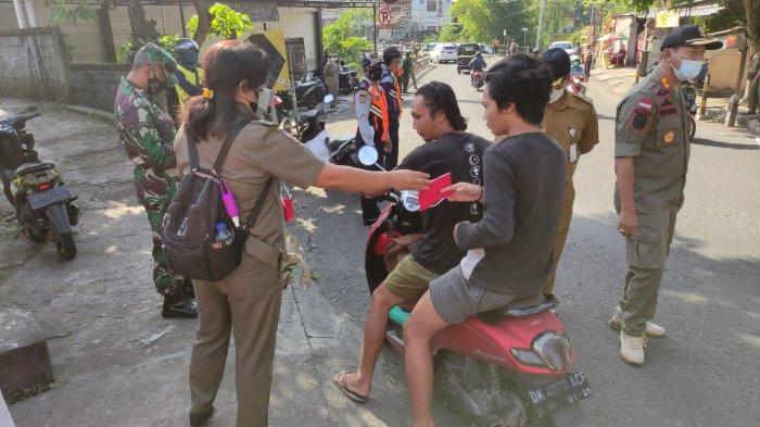 Pelanggar Masker Meningkat di Denpasar, 33 Orang Terjaring, Hanya 1.5 Jam 15 Orang Pelanggar Didenda