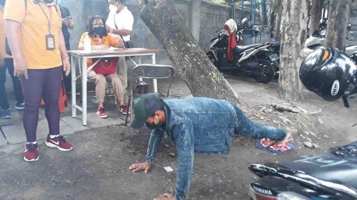 8 Pelanggar Terjaring Razia Masker di Jalan Pulau Moyo Denpasar