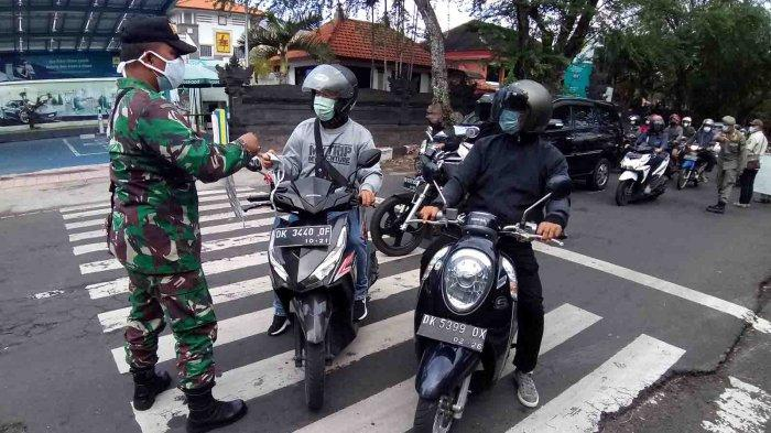 Masih Ada Pelanggar, Sidak Masker di Jalan Sutoyo Denpasar, 19 Warga Terjaring