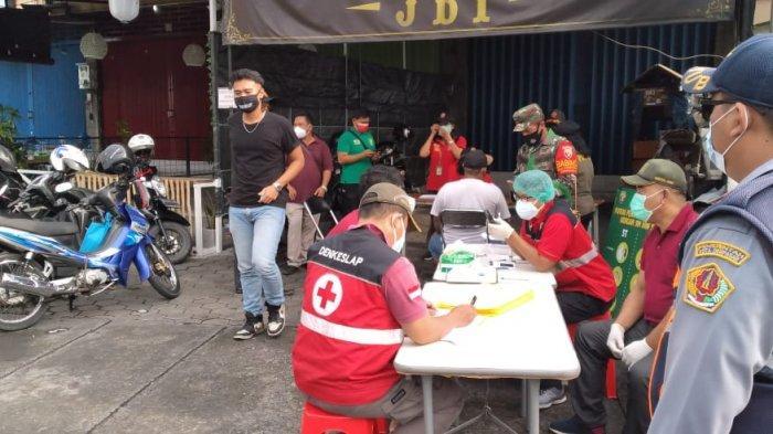22 Warga Terjaring Razia Masker di Pemecutan Kelod Denpasar, 4 Langsung Dirapid Antigen, Hasilnya?