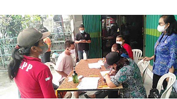 Sidak Masker di Peguyangan Denpasar, 14 Orang Terjaring, 6 Didenda Masing-masing Rp 100 Ribu
