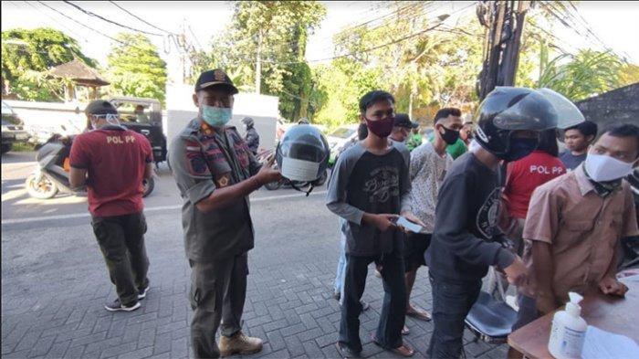 40 Pelanggar Masker Terjaring di Pemecutan Kelod Denpasar, Sejam Terkumpul Uang Denda Rp 2,2 Juta