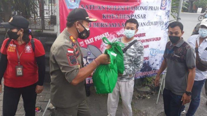 Pelanggar Prokes di Denpasar Diberi Sembako, Kasatpol PP Denpasar: Ini Cara Kami Agar Lebih Humanis