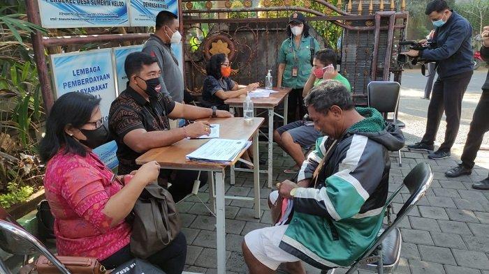 BREAKING NEWS - Pelaksanaan PPKM di Denpasar, 9 Pelanggar Masker Terjaring di Sumerta Kelod Denpasar