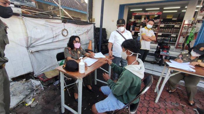 21 Orang Melanggar Penggunaan Masker di Kelurahan Padangsambian Denpasar, 11 Orang Dihukum Push Up