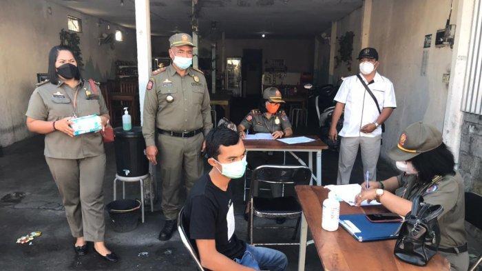 Sidak Prokes di Peguyangan Kangin Denpasar, 33 Warga Terjaring, 17 Orang Didenda di Tempat
