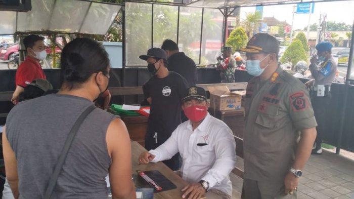 Sidak protokol kesehatan di Desa Ubung Kaja, Denpasar.