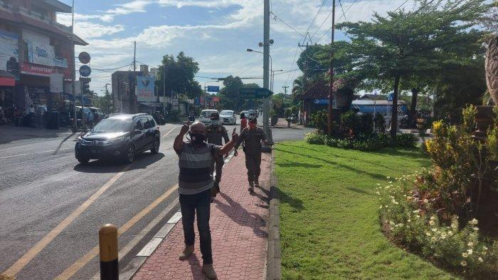 Sidak Masker di Desa Ubung Kaja Denpasar, Hari Ini 28 Orang Didenda, Petugas Kumpulkan Rp 2.8 Juta