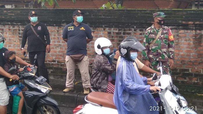 13 Orang Pelanggar Protokol Kesehatan Terjaring Razia di Kelurahan Peguyangan Denpasar