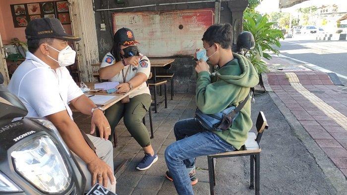 18 Pelanggar Terjaring Sidak Masker di Sidakarya Denpasar, 4 Orang Didenda