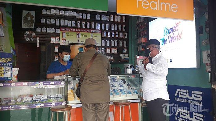 PPKM Darurat di Denpasar: Sudah 4 Tempat Usaha Didenda Rp 1 Juta, Ratusan Lainnya Dipasangi Stiker