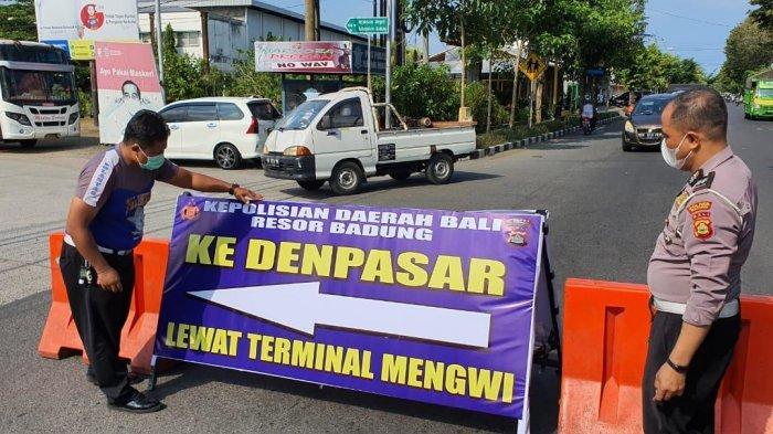 Satlantas Polres Badung Atur Skema Lalin Penyekatan Mudik, Kendaraan Diarahkan Ke Terminal Mengwi