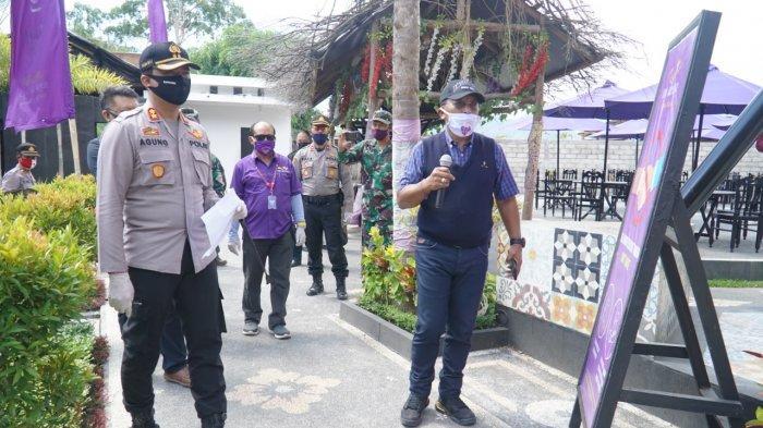 Kapolres dan Dandim Bangli Lakukan Simulasi New Normal di Toya Devasya