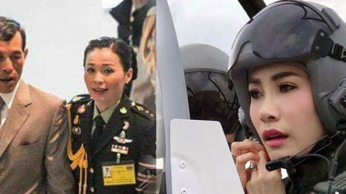 Selir Raja Thailand Tampil Cantik dengan Busana Militer Pilot Tempur, Begini Sosoknya