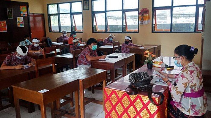 Mulai Besok, 21 SMP di Bangli Kembali Gelar Pembelajaran Tatap Muka