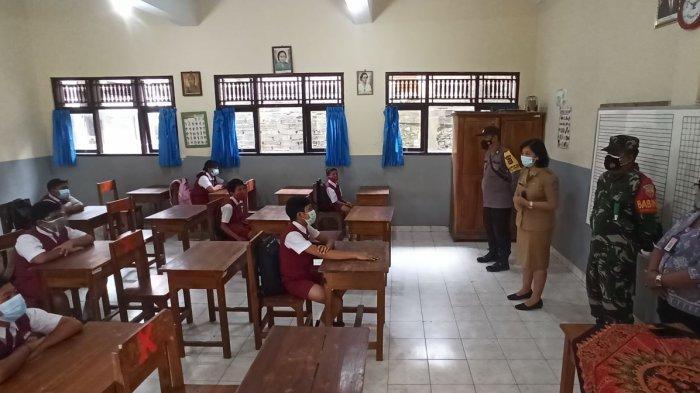 Para Siswa Mengaku Jenuh Belajar di Rumah, Simulasi PTM di SD No 2 Sempidi Badung