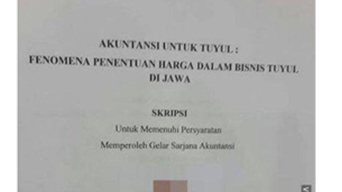 Bikin Melongo Ada Mahasiswa Akuntansi Bikin Skripsi Yang Mengulas Tentang Bisnis Tuyul Tribun Bali