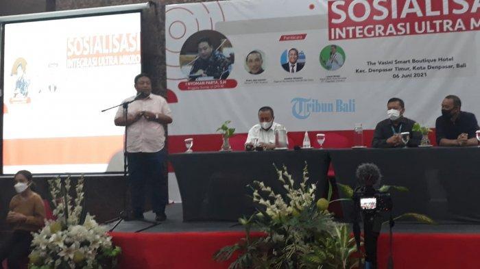 Sosialisasi Integrasi Ultra Mikro di Denpasar, Nyoman Parta Ajak UMKM Bangkit