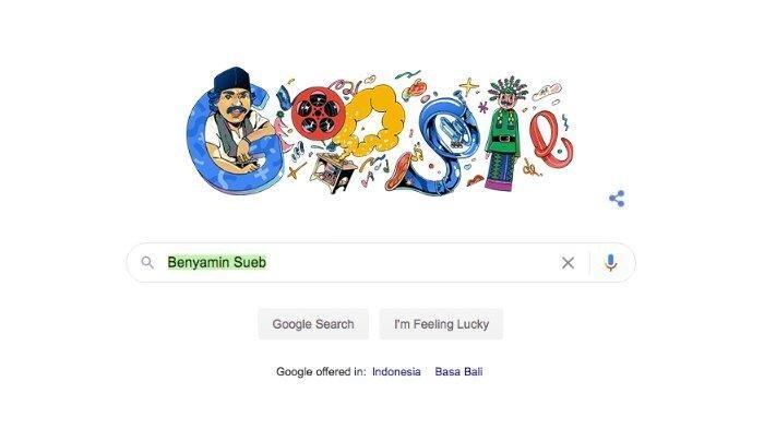 Sosok Benyamin Sueb ditampilkan di Google Doodle Hari Ini