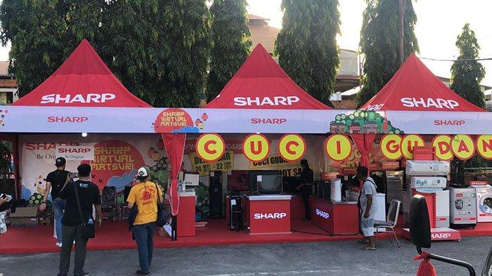 Sharp Virtual Matsuri Gelar Kegiatan Promo di Pasar Badung,Mulai Program Cuci Gudang Hingga Hot Sale