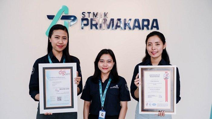 Hanya Dimiliki Beberapa PT, STMIK Primakara Raih 2 Sertifikat dari Organisasi Internasional
