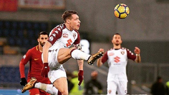 Striker Torino Andrea Belotti kini sedang diperebutkan oleh AC Milan dan AS Roma pada bursa transfer Liga Italia musim ini.