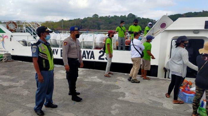 Antisipasi Penyebaran Covid-19, Polres Karangasem Perketat Penjagaan di Pelabuhan Padang Bai