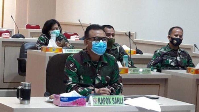 Kapok Sahli Pangdam IX/Udayana Ikuti Rakor Satgas Penanganan Covid-19 Bahas PPKM Jawa-Bali