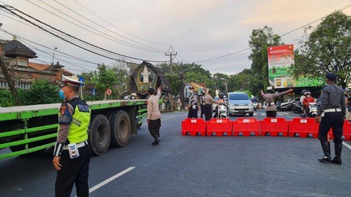 Polres Tabanan Tambah Titik Penyekatan di Jalur Utama Denpasar - Gilimanuk