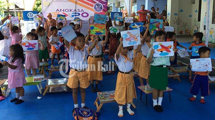 Angkasa Expo 2019 Diisi Fun Coloring Hingga Sikat Gigi Dan Cuci Tangan Massal Anak Anak Tribun Bali
