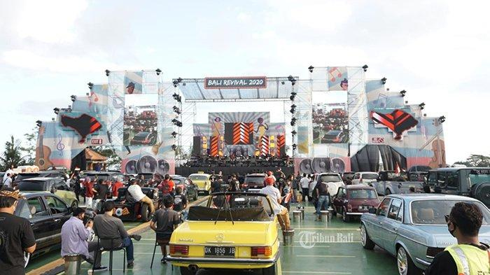 Lagu Kebyar-Kebyar Tutup Konser Musik Drive In Bali Revival 2020, Penonton Terus Kibarkan Bendera