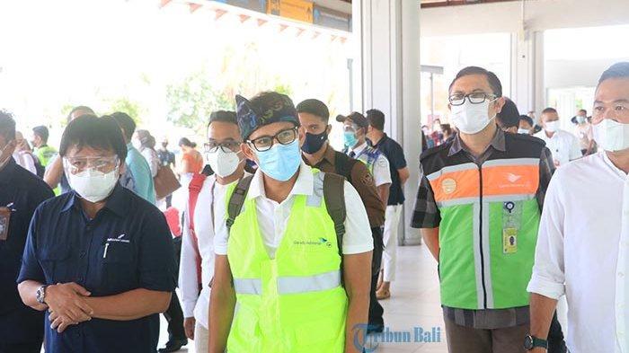 Menparekraf Apresiasi Penerapan Prokes di Bandara Ngurah Rai pada Libur Nataru