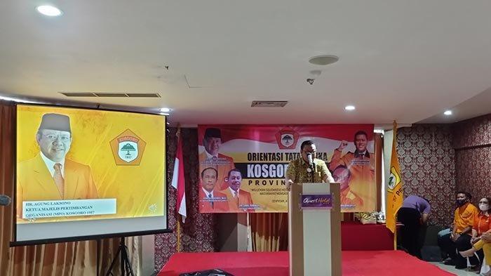 Agung Laksono Tantang Kader Kosgoro Bali Tingkatkan Jumlah Kursi Golkar di Pemilu 2024