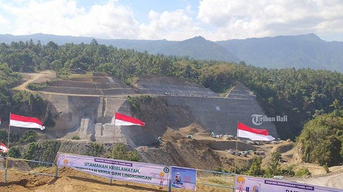 Progres Pembangunan Bendungan Tamblang Buleleng Capai 21,03 Persen