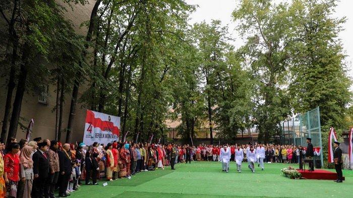 Begini Perayaan HUT Ke-74 RI di Moskow, Ada Lomba Joget Syantik Juga