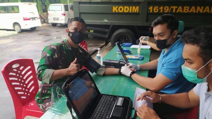 24 Kantong Darah Berhasil Disumbungkan ke PMI Tabanan, Kodim Tabanan Dukung Ketersediaan Darah PMI